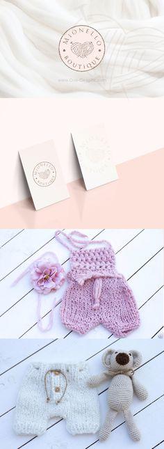 Brand Identity for Handmade Kids Clothing Design Art, Logo Design, Kids Logo, Baby Kind, Graphic Design Inspiration, Corporate Identity, Brand Identity, Logo Templates, Kids Outfits