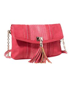 Take a look at this Berry Tassel Crossbody Bag by Big Buddha on #zulily today!