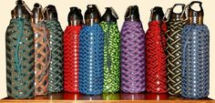Paracord water bottle holder!