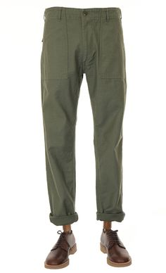 orSlow Slim Fit US Army Fatigue Pant - Green