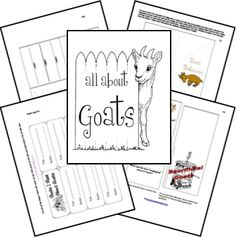 June 12, 1827: Johanna Spyri was born. Read Heidi and learn more about goats!  Goat Lapbook Lessons and Printables