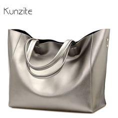 b4f16e1ac3 Luxury Women Designer Handbag Silver Portable Bucket Ladies Tote Shoulder  Sac A Main High Quality Brand Satchel Bag Bolsos Mujer