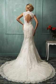 amelia sposa bridal 2014 loretta wedding dress keyhole back