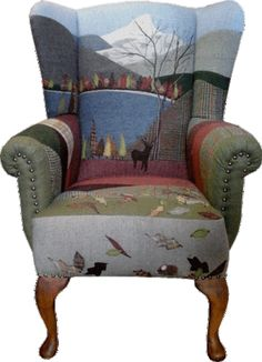 New living room art vintage chairs Ideas Whimsical Painted Furniture, Painted Chairs, Funky Furniture, Classic Furniture, Colorful Furniture, Milan Furniture, Furniture Design, Reupholster Furniture, Chair Upholstery