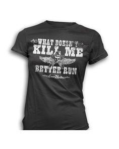 Country Junkie Nation Women's Better Run T-Shirt - Black