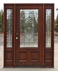 entry door with sidelights and iron N200 iron classic www.nicksbuilding.com