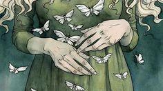 the gentle art of butterflies contemporary watercolour illustration print Līga Kļaviņa Art And Illustration, Watercolour Illustration, Fantasy Kunst, Fantasy Art, Tag Art, Hand Kunst, Watercolor And Ink, Oeuvre D'art, Art Inspo