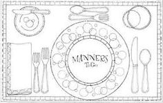 table manners and etiquette - Google Search