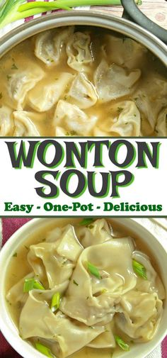 Could You Eat Pizza With Sort Two Diabetic Issues? This Homemade One-Pot Easy Wonton Soup Is Filled With A Juicy Pork And Shrimp Filling. It's A Simple Yet Comforting Soup Recipe That Will Knock Your Socks Off. Hot Pot, Wonton Recipes, Bacon Recipes, Fish Recipes, Asian Recipes, Healthy Recipes, Asian Soup, Soup And Sandwich, Pasta