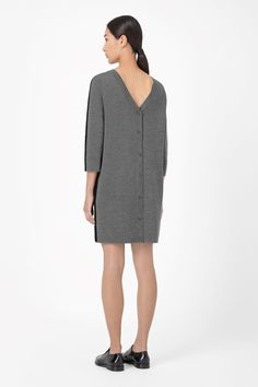 COS | Button back wool dress