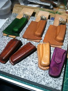 Case Knives, Buck Knives, Leather Tool Pouches, Buck 110, Leather Workshop, Best Pocket Knife, Knife Sheath, Kydex, Leather Projects