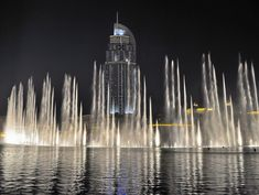Dubai Fountain und The Address by O. Fey
