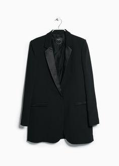 Satin detail blazer