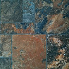 16 In X 24 In Carmen Brown Glazed Porcelain Floor Tile