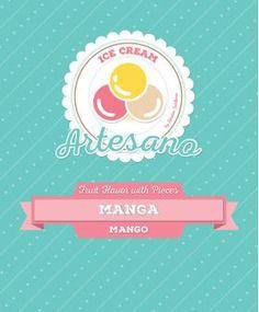 Sabores de Fruta c/ Pedaços - Base de gelado artesanal Manga - 1250 grs // Lendas Sublimes - Produtos Gourmet