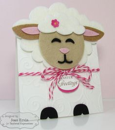 Taylored Expressions February Sneak Peeks: Sack It - Lamb and You've Been Framed - Spring Lamb Cupcakes, Sheep Cards, Easter Lamb, Crafts For Girls, Punch Art, Baby Cards, Hello Everyone, Projects To Try, Card Making