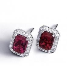 Simon G. Rubelite Earrings Style LP3745
