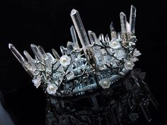 Quartz Crown Crystal Crown Branch Crown Wedding Crown Headpiece Elven Crown Quartz Tiara Bridal Tiara Raw Quartz  Raw gemstone headwear by DiademJewels on Etsy https://www.etsy.com/listing/239519215/quartz-crown-crystal-crown-branch-crown