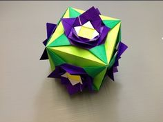 Daily Origami: 822 - Interchangeable Cube 04 Flower 01