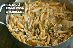 One Pot Penne Rosa with sausage for those nights when you need dinner PRONTO…