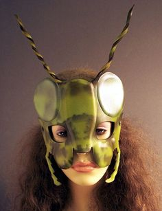 Grasshopper mask in leather $59 Halloween 2019, Holidays Halloween, Halloween Costumes, James And The Giant Peach Costume, Firefly Images, Morning Assembly, Peach Ideas, Mask Dance, Puppet Patterns