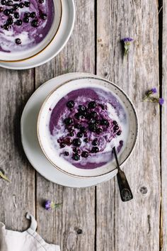 Blended Wild Blueberry Porridge | tuulia blog