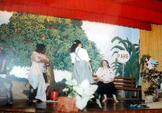 Um dos painéis para apresentação do teatro sobre a vida de Irmã Josefa Rolim