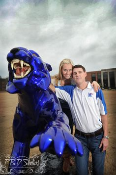 Memphis Tiger Fans engagement session at University Memphis. #Memphis #engagement