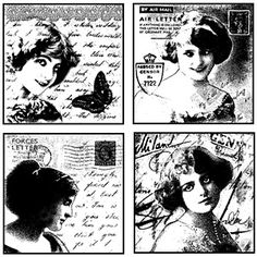 Love Letter Ladies Unmounted Rubber Stamp Set