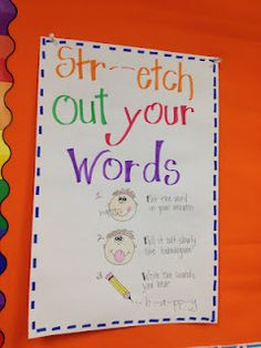 this is a good literacy poster the teacher can make so they can be able to sound out the words and  help them read