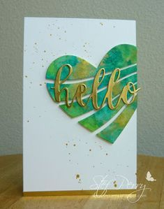 CAS Watercolour is a monthly CAS (clean and simple) card challenge celebrating all watercolour products and/or techniques. Scrapbook Cards, Scrapbooking, Valentine Day Cards, Valentine Hearts, Cricut Cards, Beautiful Handmade Cards, Cards For Friends, Watercolor Cards, Paper Cards