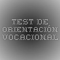 Test de Orientación Vocacional.El cuestionario contiene una lista de actitudes que se realizan en las diferentes profesiones