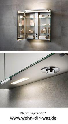 Smart Bad Ein Spiegelschrank fürs Badezimmer mit dimmbarer LED Beleuchtung.  Bildmaterial (c) KEUCO