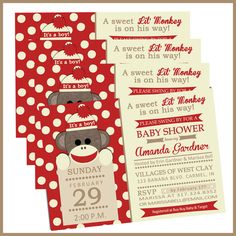 This is the one :)  Sock Monkey Baby Shower Invitations- Sock Monkey Invites