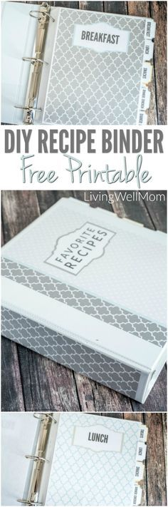 Need to organize all those recipes you've printed out? Find out how to make a pretty DIY recipe binder with these gorgeous FREE PRINTABLE recipe binder graphics! Recipe Organization, Organization Hacks, Organizing Labels, Organising, Diy Birthday Card, Friend Birthday, Birthday Quotes, Birthday Gifts, Printable Planner