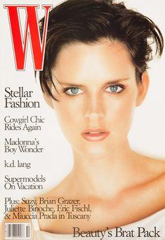 Supermodel Cover Girls - Stella Tennant W Magazine October 1996 V Magazine, Magazine Covers, Marie Claire, Cosmopolitan, Vanity Fair, Divas, Brian Grazer, Michael Thompson, Brat Pack