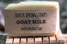 Goat Milk Soap - we use local TN goat milk and all natural ingredients in our handmade goat milk soap - https://www.shafersprings.com/product/goat-milk-soap/