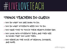 Live Love Teach: Why Teachers Do What They Do (Just To Name A Few)
