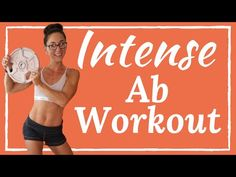 Intense ab workout routine with weights. This flat stomach workout is the best way to strengthen your core and tone your tummy. Intense ab workout routine with weights. This flat stomach workout is the best way to strengthen your core and tone your tummy. Intense Ab Workout, Easy Ab Workout, Six Pack Abs Workout, Workout For Flat Stomach, Abs Workout Routines, Abs Workout For Women, Ab Workout At Home, At Home Workouts, Ab Workouts