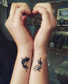 Matching Couple Tattoos Ideas, couple tattoo ideas, couple tattoos, matching couple tattoos,You can find Best friend tattoos and more on our website. Twin Tattoos, Sibling Tattoos, Paar Tattoos, Body Art Tattoos, Tattoos For Twins, Tattoos For Friends, Small Best Friend Tattoos, Tattoos For Brothers, Cross Tattoos