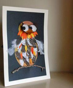 that artist woman: Owl - Art Project Autumn Crafts, Autumn Art, October Art, October Crafts, Fall Art Projects, Owl Crafts, Kindergarten Art, Classroom Crafts, Art Lessons Elementary