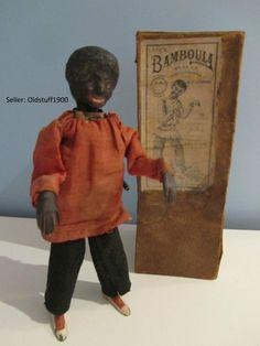"RARE 1900's Fernand Martin ""Bamboula"" Black Tin Wind Up Toy France w Box | eBay"