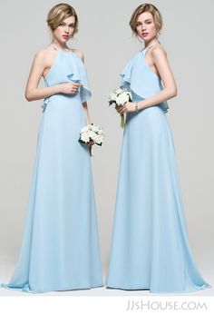 Simple halter bridesmaid dress. #JJsHouse #JJsHouseBridesmaidDress