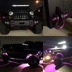 @jeepintheheartoftexas 2016 Jeep Wrangler Unlimited :: Lifted Jeep, black with purple accents.