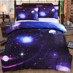 """Harajuku universe planet BED SHEET & DUVET COVER- click the link for more cute looks and use this coupon code """"discount2016"""" to get all 10% off,Sponsor Review and Affiliate Program open there!"""