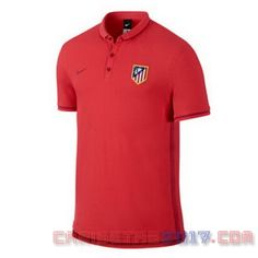 Camiseta polo Atletico Madrid 2016 rojo