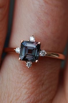 Eidel Precious Sapphire Engagement Rings Eidel Precious engagement rings unique rose gold princess cut See more: #weddingforward #wedding #bride #GoldJewelleryBride