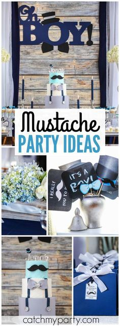 How awesome is this little man mustache baby shower?! See more party ideas at CatchMyParty.com!