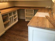 Reclaimed wood countertop // Nashville, TN