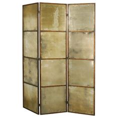 Avidan Antiqued Mirror 3-Panel Room Divider $833.99 62.25W x 2.75D x 79.75H hayneedle
